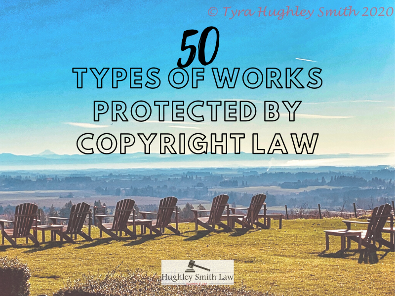 what can be copyrighted 50types of works protected by copyright law
